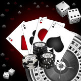 Roulette with the casino chips Stock Image