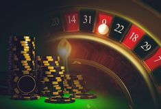 Roulette Casino Games Stock Photography