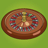 Roulette in casino pop art style vector Royalty Free Stock Images