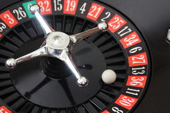 Roulette casino sphere on red Royalty Free Stock Image