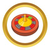 Roulette in casino vector icon Royalty Free Stock Photography