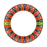 Roulette Casino Wheel Template with Double Zero on White Background. Vector Royalty Free Stock Images