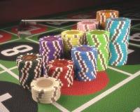 Roulette-Chips Stockfotografie