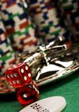 Roulette & Chips in Casino Royalty Free Stock Images
