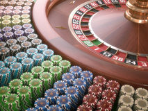 Roulette Chips Royalty Free Stock Photography