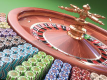 Roulette Chips Stock Photo