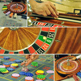Roulette collage Royalty Free Stock Image