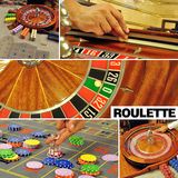 Roulette collage Royalty Free Stock Photography