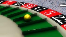 roulette 3d et nombres Image stock