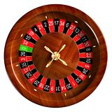 Roulette 3D Illustration. Isolated on white top view Royalty Free Stock Photos