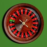 Roulette 3D Illustration. Top view Stock Photography