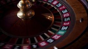Roulette dans la rotation de casino banque de vidéos