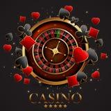 Roulette dans le casino Images libres de droits
