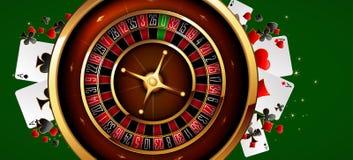 Roulette dans le casino Photographie stock libre de droits