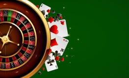 Roulette dans le casino Images stock