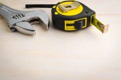 Roulette de clé et de construction Photo libre de droits