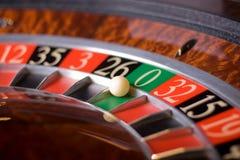 Roulette del casinò, vittorie zero immagine stock
