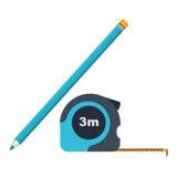 Roulette e matita dell'icona Fotografia Stock Libera da Diritti