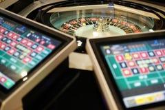 Roulette elettroniche con gli schermi del cliente Fotografie Stock Libere da Diritti