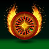 Roulette with fire royalty free illustration