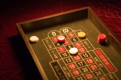 Roulette game stock photo