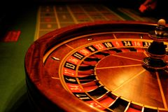 Roulette gives chance. Is great for your online presentation, printed materials, graphics, design, roll up, banner, details Stock Image