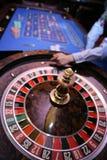 Roulette het gokken lijst in casino Royalty-vrije Stock Fotografie