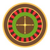 Roulette icon, flat style. Roulette icon. Flat illustration of roulette vector icon for web Royalty Free Stock Image