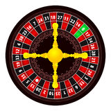 Roulette illustration Royalty Free Stock Images