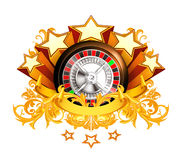 Roulette insignia. Computer illustration, isolated on the white Stock Photos