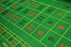 Roulette layout Royalty Free Stock Photo