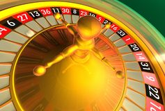 Roulette - meer bezinningen Stock Foto