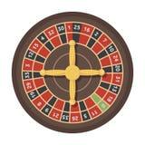 Roulette met rode en zwarte cellen Het populairste casinospel in de wereld Kasino enig pictogram in de vector van de beeldverhaal Royalty-vrije Stock Afbeelding