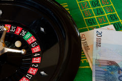 Roulette and money Stock Photo