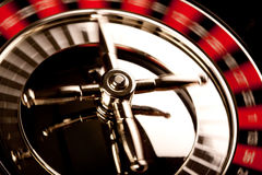Roulette in motion Stock Photo
