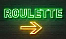 Roulette neon sign Royalty Free Stock Photos