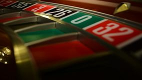 Roulette number view stock video footage