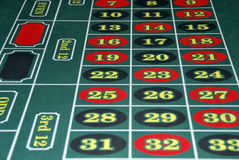Roulette numbers Stock Image