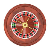 Roulette over Wit Royalty-vrije Stock Foto