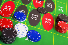 Roulette Placing Bets stock images