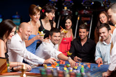 Roulette players Royalty Free Stock Images