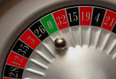 Roulette. Playing field,sector zero Royalty Free Stock Photography