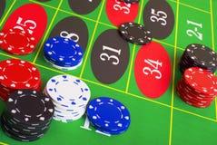 Roulette-Plazierungs-Wetten lizenzfreie stockbilder