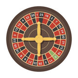 Roulette with red and black cells. The most popular casino game in the world.Kasino single icon in cartoon style vector Royalty Free Stock Image