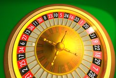 Roulette - less reflections Royalty Free Stock Images
