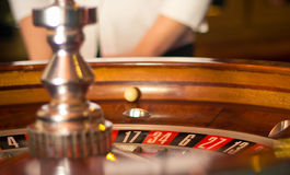 Roulette, a rolling ball Royalty Free Stock Photos