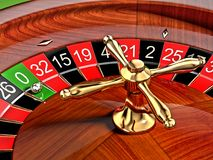 Roulette. 3D Illustration zoom view Stock Photo