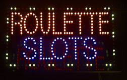 Roulette slots sign Stock Photography