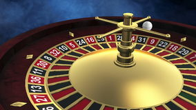 Roulette spinning stock video