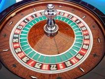 Roulette spinning wheel Stock Photo